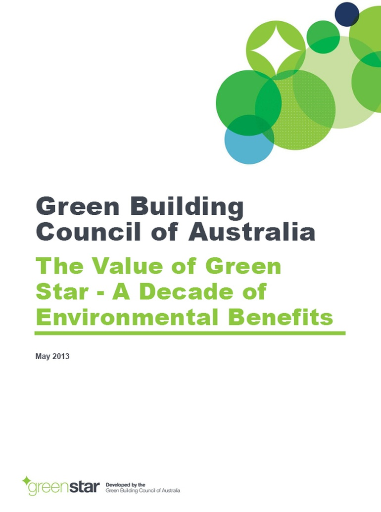 value of green star gbca research