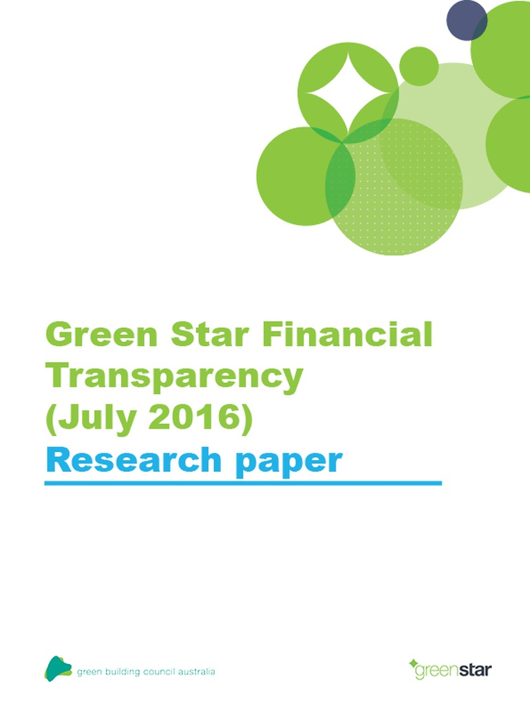 financial transparency document green star 2016